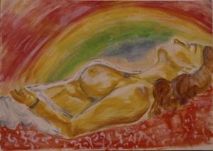 5 fekvő nő