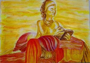 8 December, olvasó nő